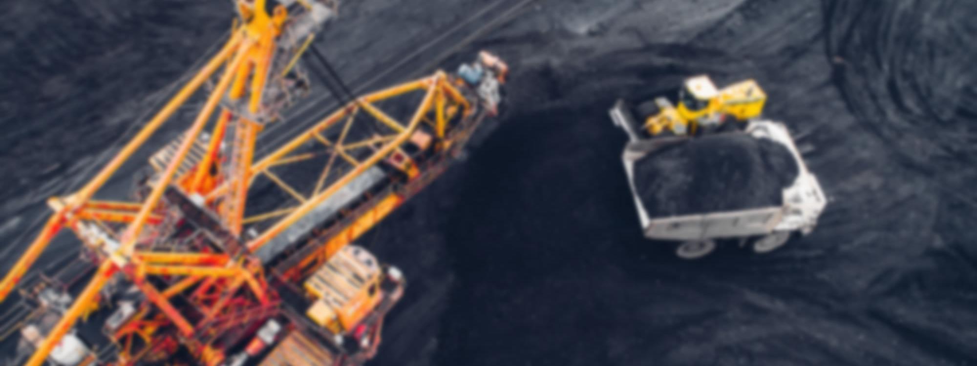 Dragline Mining Swing Pedal blurred