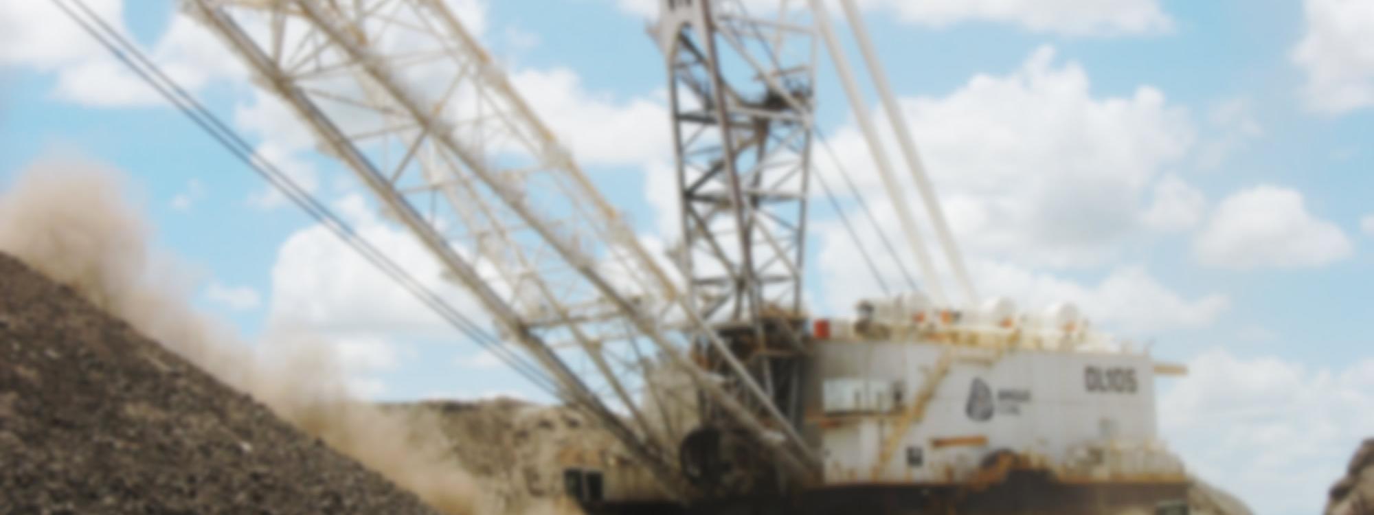 Dragline working Anglo Coal blurred