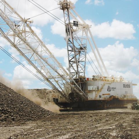Dragline working Anglo Coal